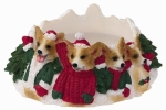 Holiday Candle Topper - Welsh Corgi