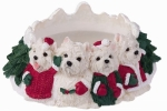 Holiday Candle Topper - Westie