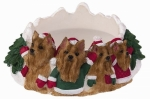 Holiday Candle Topper - Yorkie