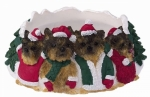 Holiday Candle Topper - Yorkie Puppy Cut