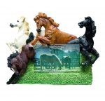Horse Picture Frame - Four Horses Jumping