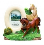 Horse Picture Frame - Horses Jumping Right