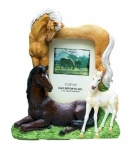 Horse Picture Frame - Playful Horses