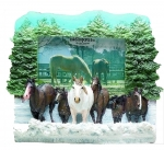 Horse Picture Frame - Winter Horses