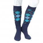 Horze Dawn winter checked knee socks