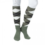 Horze Holly winter checked knee socks