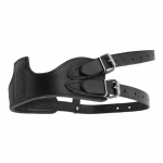 Horze Leather Crib Biter Collar