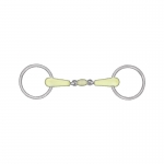 Horze Loose Ring Apple-Flavored Snaffle Bit w/Roller