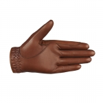 Horze Luxury Leather Glove with Llycra