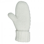 Horze SNOW BASIC cable knitted mittens, basic fititng