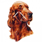 Irish Setter Head Shaped Clock