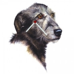 Irish Wolfhound Head Shaped Clock