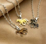 Kelley Equestrian Galloping Horse Pendant Necklace