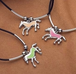 Kelley Equestrian Glow in the Dark Horse Necklace