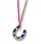 Kelley Equestrian Rainbow Horseshoe Necklace