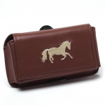 Kelley Faux Leather Cell Phone Case with Horse