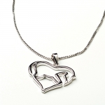 Kelley Horse Body Silver Heart Necklace