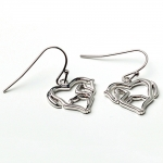 Kelley Horse Body Silver Heart Earrings