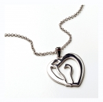 Kelley Horse Head Heart Necklace