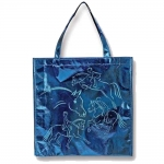 Kelley Metallic Blue Horse Tote