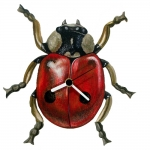 Lady Bug Shaped Clock
