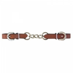 Leather Curb Chain Strap
