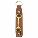 Leather Key Fob w/Snaffle Bit