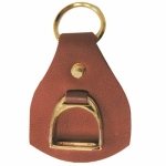 Leather w/Stirrup Key Fob