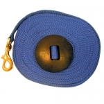 Lunge Line with Rubber Stopper - 25ft Blue