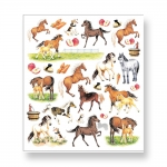 Multi-Colored Stickers-Horses On Farm Misc.