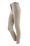 On Course Cotton Naturals Original Knee Patch Front Zip Breeches