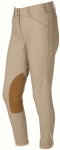 ON COURSE PYTCHLEY EURO SEAT LOW RISE FRONT ZIP BREECHES CHARCOAL LADIES 24 REGULAR