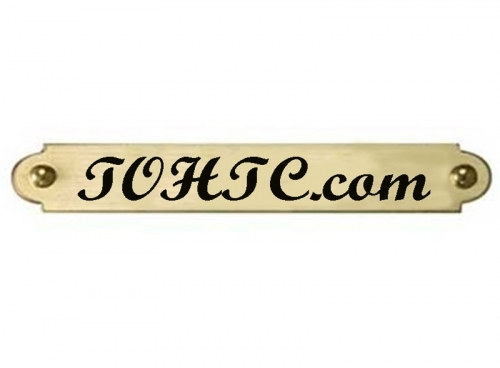 Ornamental Brass Engraved Name Plate 38 x 2 Custom