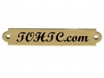"Ornamental Brass Engraved Name Plate 1/2"" "" x 3"""