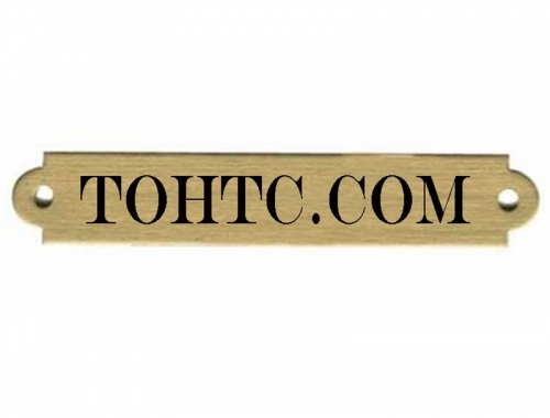 Ornamental Brass Engraved Name Plate 34 x 4 12 Custom