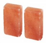 "Two (2) 8X4X2"" Authentic 100% Genuine & Imported Himalayan Crystal Salt Brick"