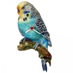 Parakeet Blue Shaped Clock
