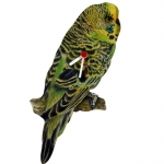 Parakeet Green Shaped Clock