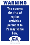 Pennsylvania Equine Liability Sign