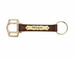 Perri's Leather Halter Cheek Key Chain with Plate