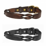 Perri's Leather Twisted Leather Dog Collar