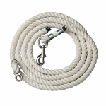 Perri's Leather White Cotton 10 ft Neck Rope