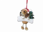 Personalized Dangling Dog Ornament - Beagle