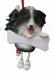 Personalized Dangling Dog Ornament - Border Collie