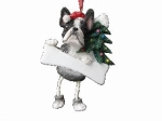 Personalized Dangling Dog Ornament - Boston Terrier