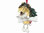 Personalized Dangling Dog Ornament - Collie