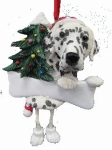 Personalized Dangling Dog Ornament - Dalmatian