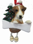Personalized Dangling Dog Ornament - Jack Russell