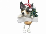 Personalized Dangling Dog Ornament - Rat Terrier