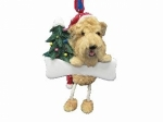 Personalized Dangling Dog Ornament - Soft Coated Wheaten Terrier